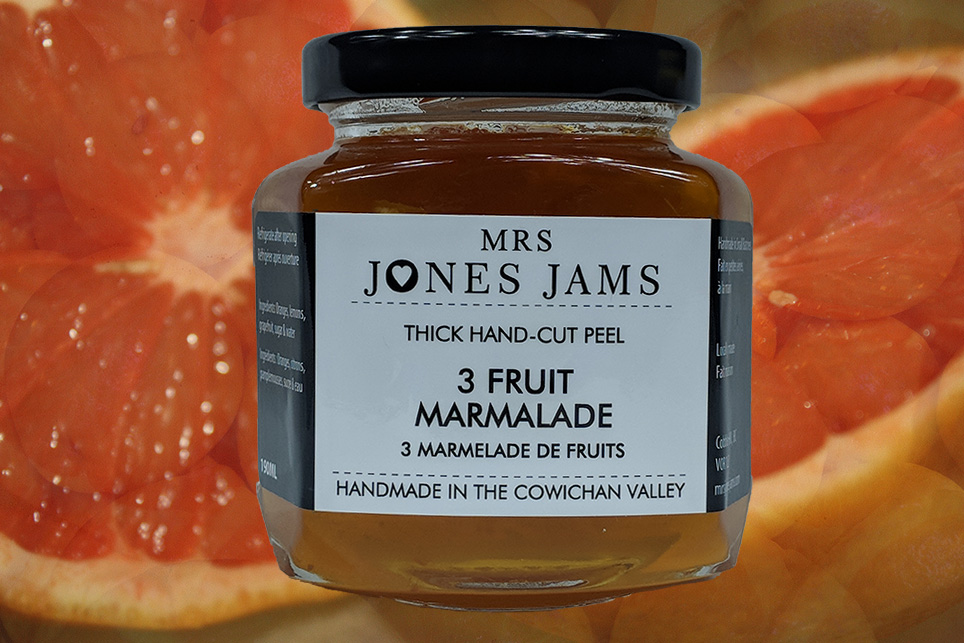 Mrs Jones Jams 3 Fruit Marmalade